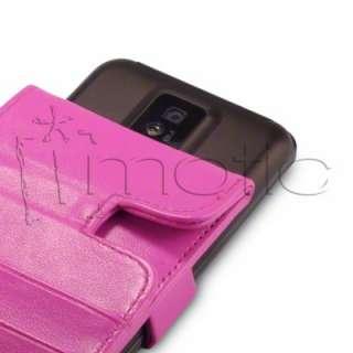 Funda Cuero/Piel LG Optimus 2x p990 color ROSA FUCSIA |