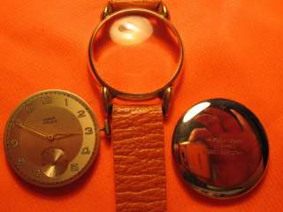 selten UICKER 15 Rubis AH Adolf Hanhart Formwerk Armbanduhr Uhr