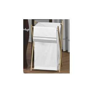 Laundry Hamper for White and Gray Hotel Bedding by JoJO Designs Baby