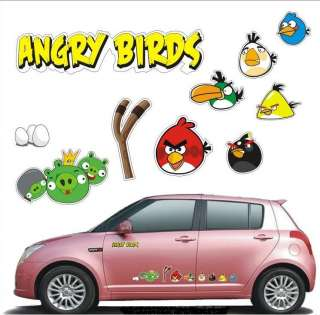 Angry Birds Car Auto Emblem Decals Sticker Complete Set