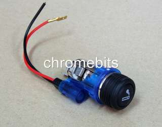 Blue cigarette lighter 12V for Opel Astra Vectra Corsa