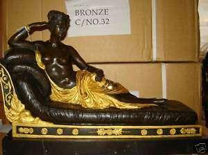 Statua scultura in bronzo Paolina Borghese Bonaparte