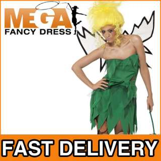 Hell Ladies Halloween Fancy Dress Fairytale Tinkerbell Costume UK 8 16