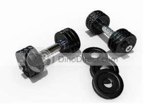 Pound Hexagon Dumbbells Weight Family Fitness   DinoDirect