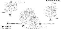 Fig. Front wheel speed sensor location 2000 2004 Xterra