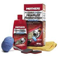 Mothers/4Lights headlight restoration kit includes power ball, polish