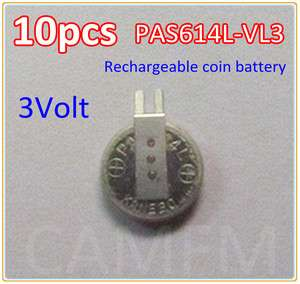 VL3 614 3V Rechargeab​le Li mn Button Coin Cell Battery w/tab KANEBO