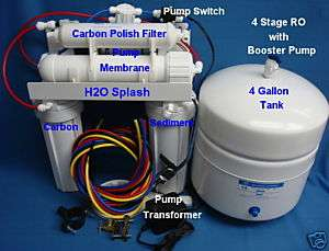 Stage 100/150 gpd membrane+Booster Pump Reverse Osmosis System Water