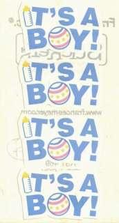 Newborn Infant Its Baby Boy Announcement Baby Shower Stickers