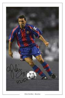 HRISTO STOICHKOV BARCELONA AUTOGRAPH SIGNED PHOTO PRINT