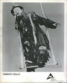 1956 Press Photo Emmett Kelly Circus Performer Clown