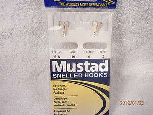 , 518, 24kt Gold Plated, Snelled Trout Treble Hooks, Size 10, 3 Packs