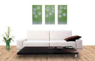 LIME GREEN BLUE WHITE ABSTRACT PAINTING by *STEPHANIE*