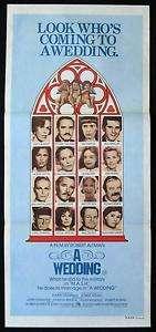 WEDDING 1978 Robert Altman Daybill Movie poster