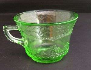 Vintage Jeanette Glass Co. Green Depression Glass Cup