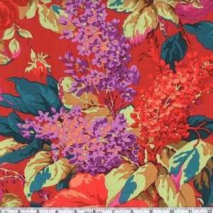 45 Wide Philip Jacobs Fall Florals Lilac Rose Scarlet