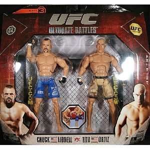 TITO ORTIZ & CHUCK LIDDELL   UFC DELUXE 2 PACKS 3 TOY MMA