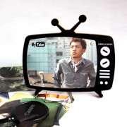 nostalgia de televisión en blanco y negro en forma de marco de fotos