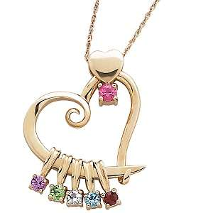 Slider Birthstone Color Crystal Pendant with 20 Rope Chain
