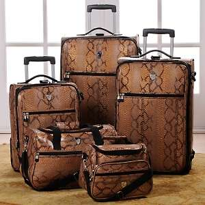 Snake Print 5 piece Luggage Set by Travel Concepts