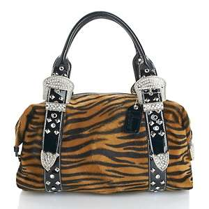 Snooki by Nicole Polizzi Wild Thang Tiger Print Satchel at HSN