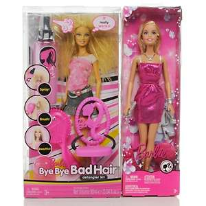 Barbie Doll Bye Bye Bad Hair Detangler Kit Playset at HSN