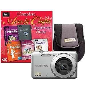 VG 110 12MP, 4X Optical Zoom Digital Camera Bundle   Silver