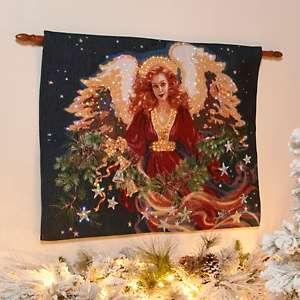 Winter Lane Fiber Optic Wall Hanging   Christmas Blessing