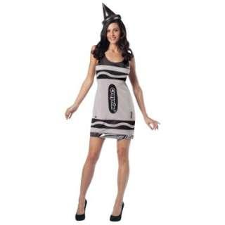 Halloween Costumes Crayola Silver Crayon Tank Dress Adult Costume