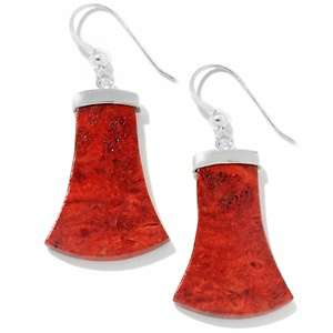 Jay King Red Coral Sterling Silver Drop Earrings