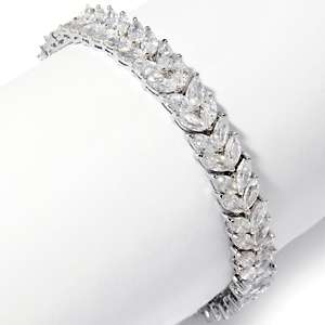 Justine Simmons Jewelry Clear Marquise 7 1/2 Line Bracelet