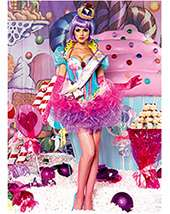Out of Stock WOMENS SEXY DELUXE CUPCAKE QUEEN COSTUM Promo Price $