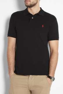 Polo Ralph Lauren  Black Slim Fit Mesh Polo by Polo Ralph Lauren