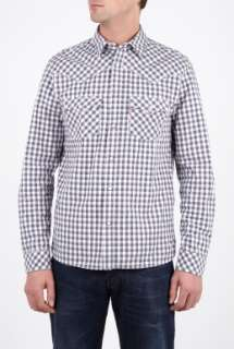 Levis  Dusty Purple Gingham Check Shirt by Levis