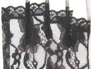 LACE HALF FINGER Black/Red Wrist Dress Texting Gloves