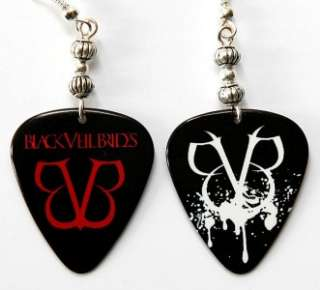 Black Veil Brides Guitar Pick Earrings Two Sided