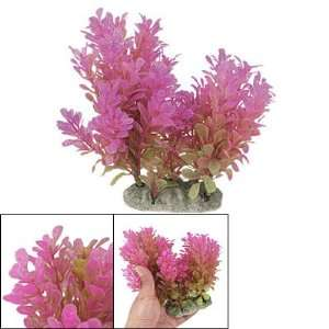 Como Fish Tank Purple Green Emulational Plastic Decor Water