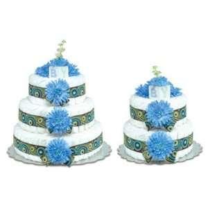 Blue Mums Swirls Diaper Cake Baby