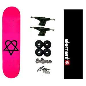 Bam Heartagram Pro HIM 7.75 Skateboard Complete w/ Element Grip
