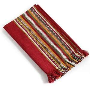 100% Cotton Burgundy Napkin Set of 2 Candy Striper Napkin