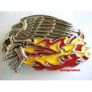 Famous Flying Skull Flaming Belt Buckle Everything Else