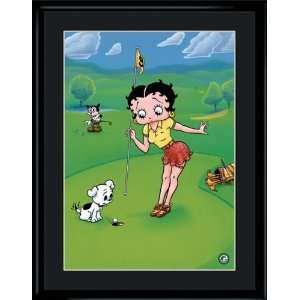 Betty Boop Pulls the Pin Limited Edition Print matted