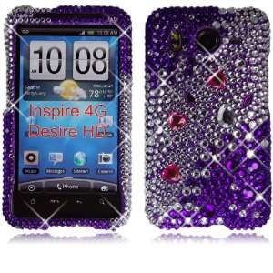 4g At&t Big Purple Diamond Hard Case Cover. Cell Phones & Accessories