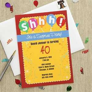 Personalized Surprise Birthday Party Invitations Health