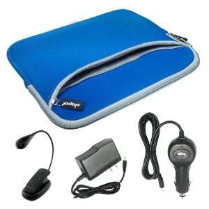 Skque 10 Inch Blue Dual Case+Black Wall Charger+Black Car Chager+Black