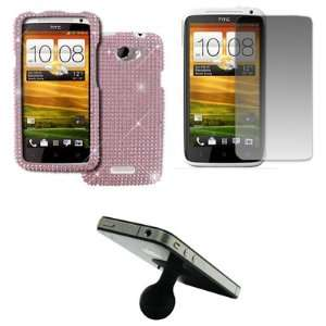 EMPIRE AT&T HTC One X Full Diamond Bling Case Cover (Pink