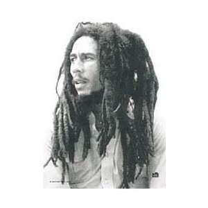 Bob Marley   B/W Portrait   Fabric Poster 30x40