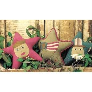 Trio of Americana Stars Pattern Arts, Crafts & Sewing