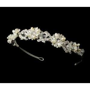 Swarovski Crystal & Freshwater Pearl Bridal Headband HP 7844 Beauty