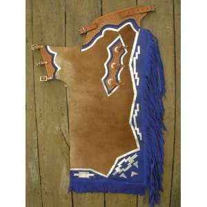 Riding Soft Hair On Leather Rodeo Western Chaps